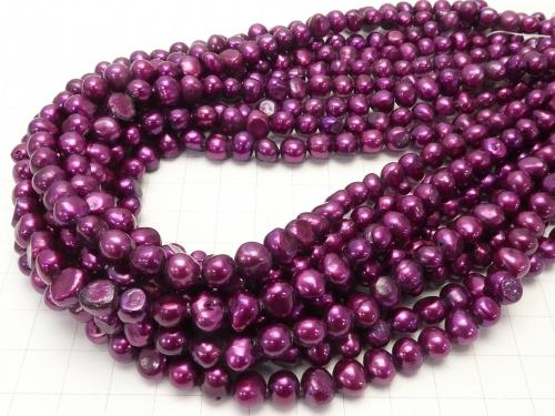 1strand $3.79! Fresh Water Pearl Baroque Metallic Pink Purple 1strand (aprx.15inch / 36cm)