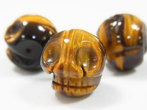 Yellow Tiger Eye AAA - Skull 20 mm 1 pc $8.79!