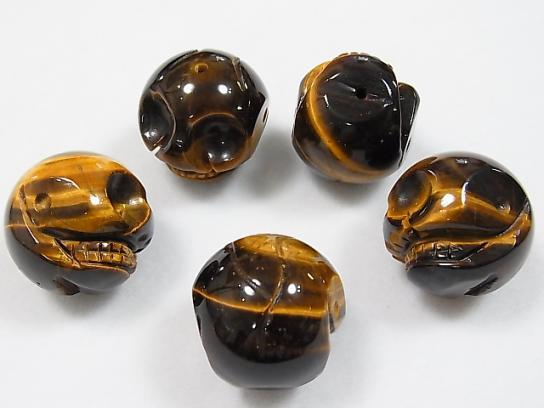 Yellow Tiger Eye AAA - Skull Vertical Hole 30 mm 1 pc $9.79!
