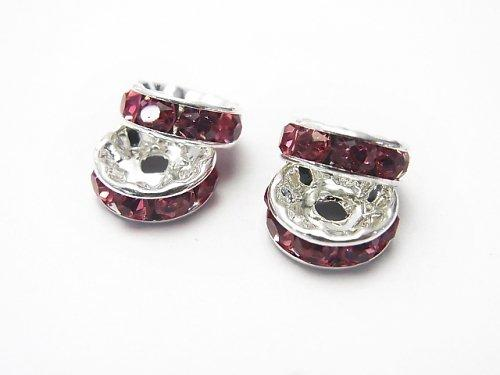 Asfor Roundel [Rose x Silver] Flat 4-10 mm 100 pcs $9.79