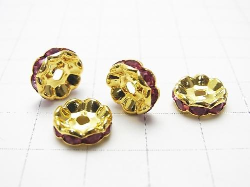 Asfor Roundel [Rose x Gold] flower pattern 4-10 mm 100 pcs $9.79