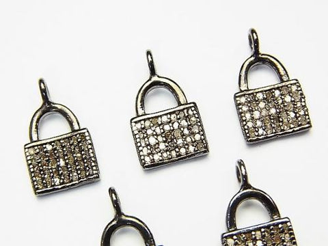 Diamond Handbag (Bag) Motif Charm 11x8x1.5 Silver925 1pc $34.99!