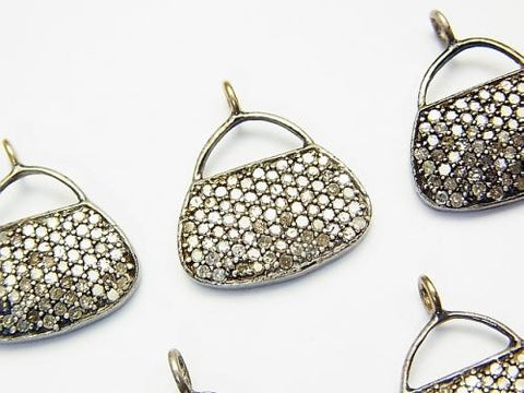 Diamond Handbag (Bag) Motif Charm 14x16x2 Silver925 1pc $79.99!