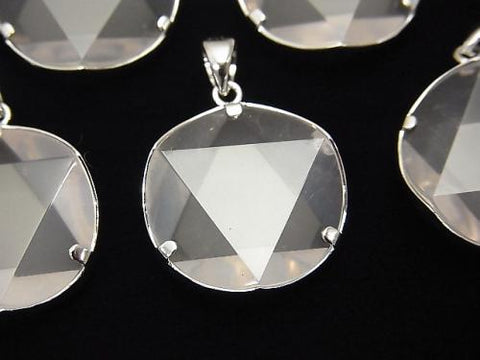 High Quality Madagascar Rose Quartz AAA Hexagram Pendant Silver925 1pc $13.99