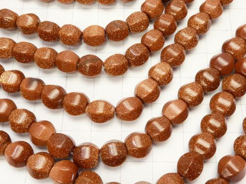 1strand $4.79! Golden Sand Stone 6Faceted 8mm 1strand (aprx.15inch/37cm)