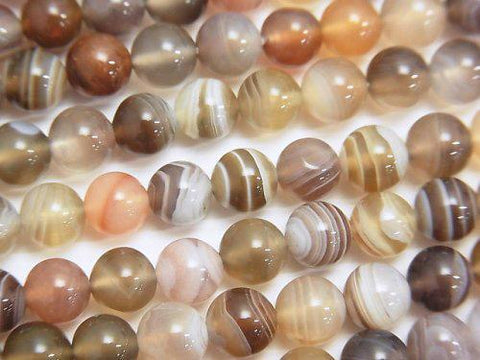 Botswana Agate  Round 6mm half or 1strand (aprx.15inch/38cm)