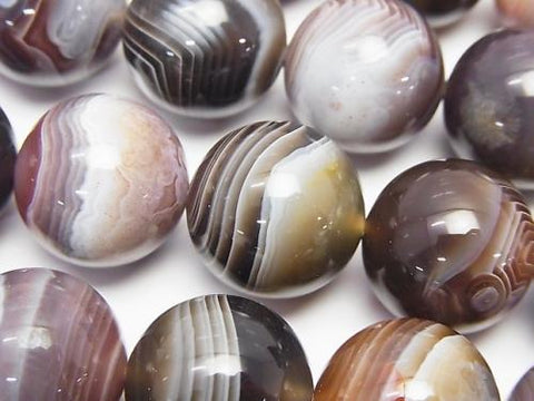 Botswana Agate  Round 16mm 1/4 or 1strand (aprx.15inch/36cm)