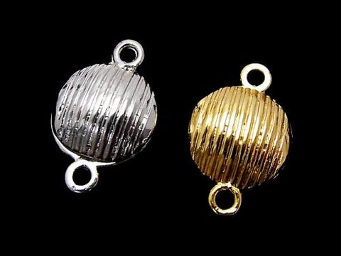 Metal Parts Jump Ring with magnet type clasp line into Coin 22 x 14 x 7 mm 2 pairs $2.99!