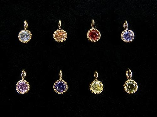 New color appearance! 8 color deployment Cubic Zirconia charm (gold) 5 x 5 x 3 mm 1 pc $0.99