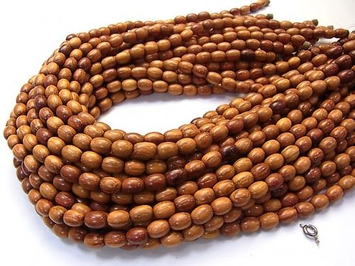1strand $3.79! Wood Beads  Rice 9x6x6mm 1strand (aprx.15inch/38cm)