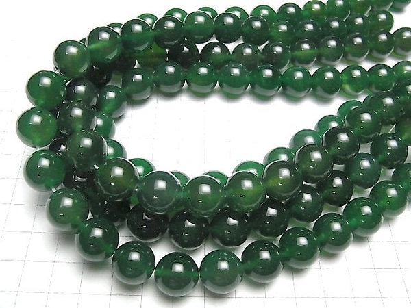 Green Onyx AAA Round 14 mm half or 1 strand (aprx.15 inch / 36 cm)