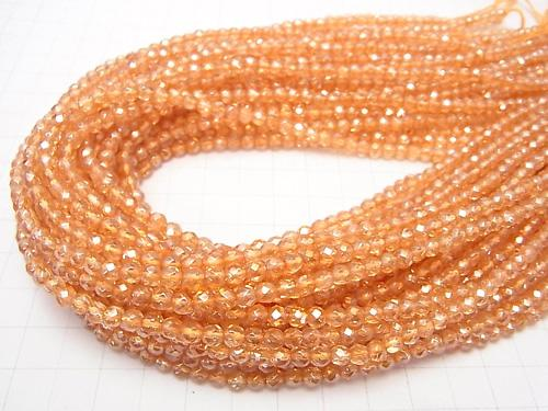 Golden Aura Crystal Quartz  32Faceted Round 4mm half or 1strand (aprx.15inch/38cm)