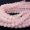 Sale! Frost Rose Quartz Round 12 mm half or 1 strand (aprx.15 inch / 37 cm)