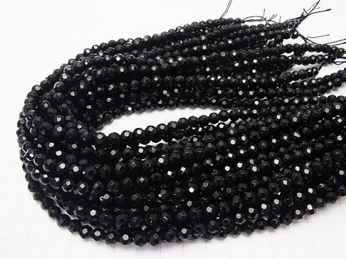 Sale!  1strand $5.79! Onyx  32Faceted Round 6mm 1strand (aprx.15inch/36cm)
