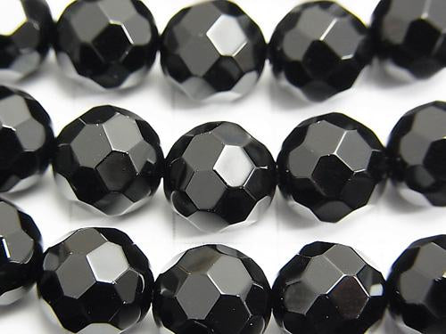 Sale!  1strand $7.79! Onyx  32Faceted Round 10mm 1strand (aprx.15inch/38cm)