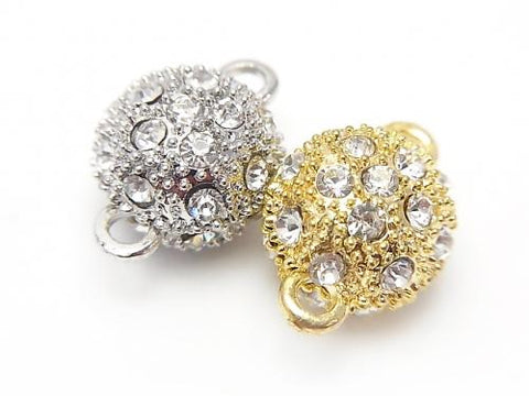 Metal Parts Rhinestone entering magnet clasp [10 mm] [12 mm] 2 pairs $2.79!
