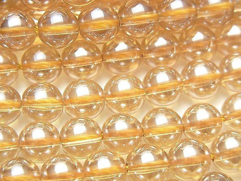 Champagne Color Quartz AAA Round 8mm half or 1strand (aprx.15inch / 37cm)