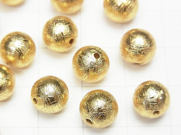 Meteorite (Muonionalusta) Round 8 mm gold color 1 pc