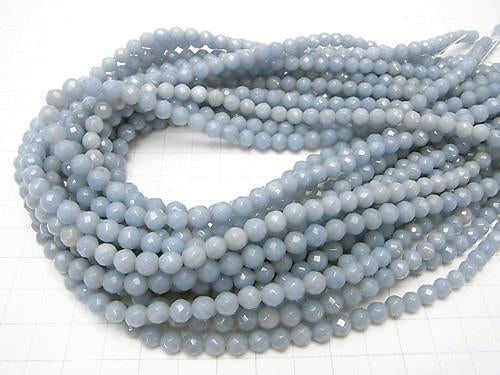 1strand $8.79! Angelite AAA- 64Faceted Round 6mm 1strand (aprx.15inch/38cm)