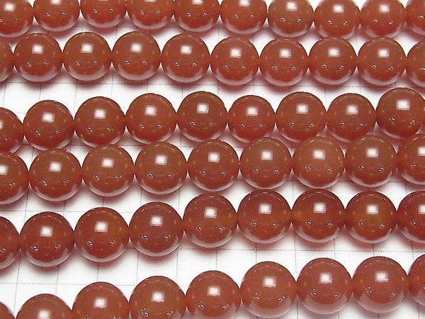 Red Agate AAA Round 14 mm half or 1 strand (aprx.15 inch / 36 cm)