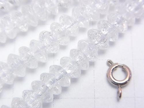 Cracked Crystal  Roundel 6x6x3mm half or 1strand (aprx.15inch/38cm)