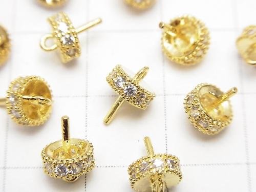 Metal Parts Screw Eye gold color (with CZ) 2pcs $2.79!