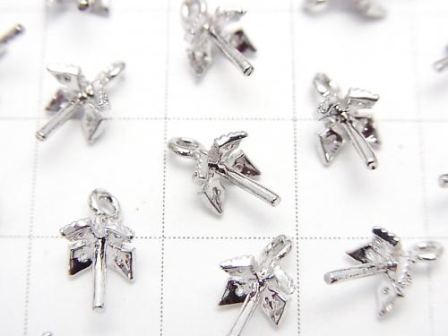 Metal Part Screw Eye Silver Color (with CZ) 2pcs $2.79!