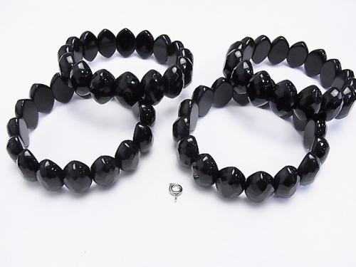 1strand $15.99! Onyx 2 holes Faceted Marquise 19 x 12 x 8 mm 1strand (Bracelet)