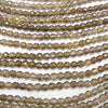 1strand $7.79! Crack Smoky Crystal Quartz 32 Faceted Round 4 mm 1strand (aprx.15 inch / 36 cm)