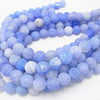 1strand $6.79! Frost Blue Color Agate Round 12mm Antique Finish 1strand (aprx.15inch / 36cm)