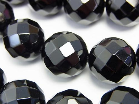 Onyx  64Faceted Round 16mm 1/4 or 1strand (aprx.15inch/37cm)