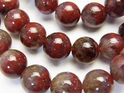 Red Amethyst (Party Color Amethyst) AA ++ Round 8mm-13mm 1strand (Bracelet)