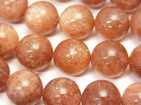 Sun Stone AA+ Round 12mm 1/4 or strand (aprx.15inch/38cm)