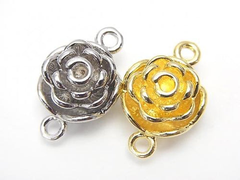 Metal Parts Magnetic Clasp with Jump Ring 20 x 13 x 9 mm Flower 2 pairs $3.79!