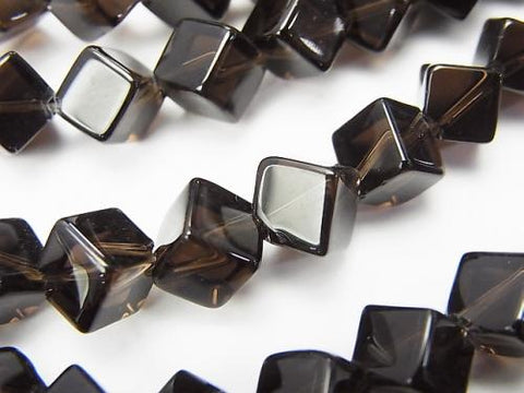 Smoky Crystal Quartz AAA Dice 9x9x9mm half or 1strand (aprx.15inch / 38cm)