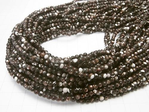1strand $3.79! Mother of Pearl MOP Brown Round 3mm 1strand (aprx.15inch / 38cm)