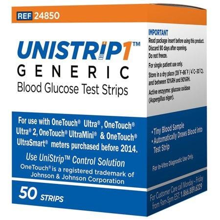 UniStrip 1™ Glucose Test Strips | Glucose Test Strips | TrustedDiabetics.com