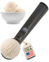 USA made Ultra Premium Ice Cream Scoop by The Happyware Company - 100% Solid Aluminum + Easy Grip Handle + Dishwasher Safe, Black