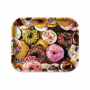Large Donuts Rolling Tray - RAW