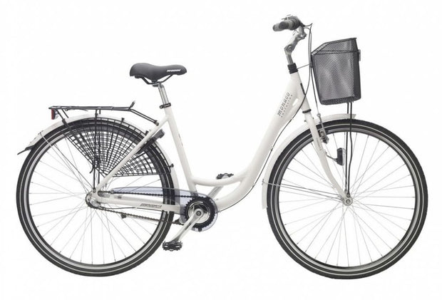 "madison 28"" women city bike with a basket"