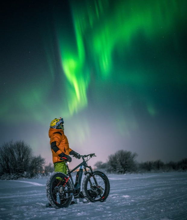 Guided tour - Northern lights photography on e-fatbikes - Finland