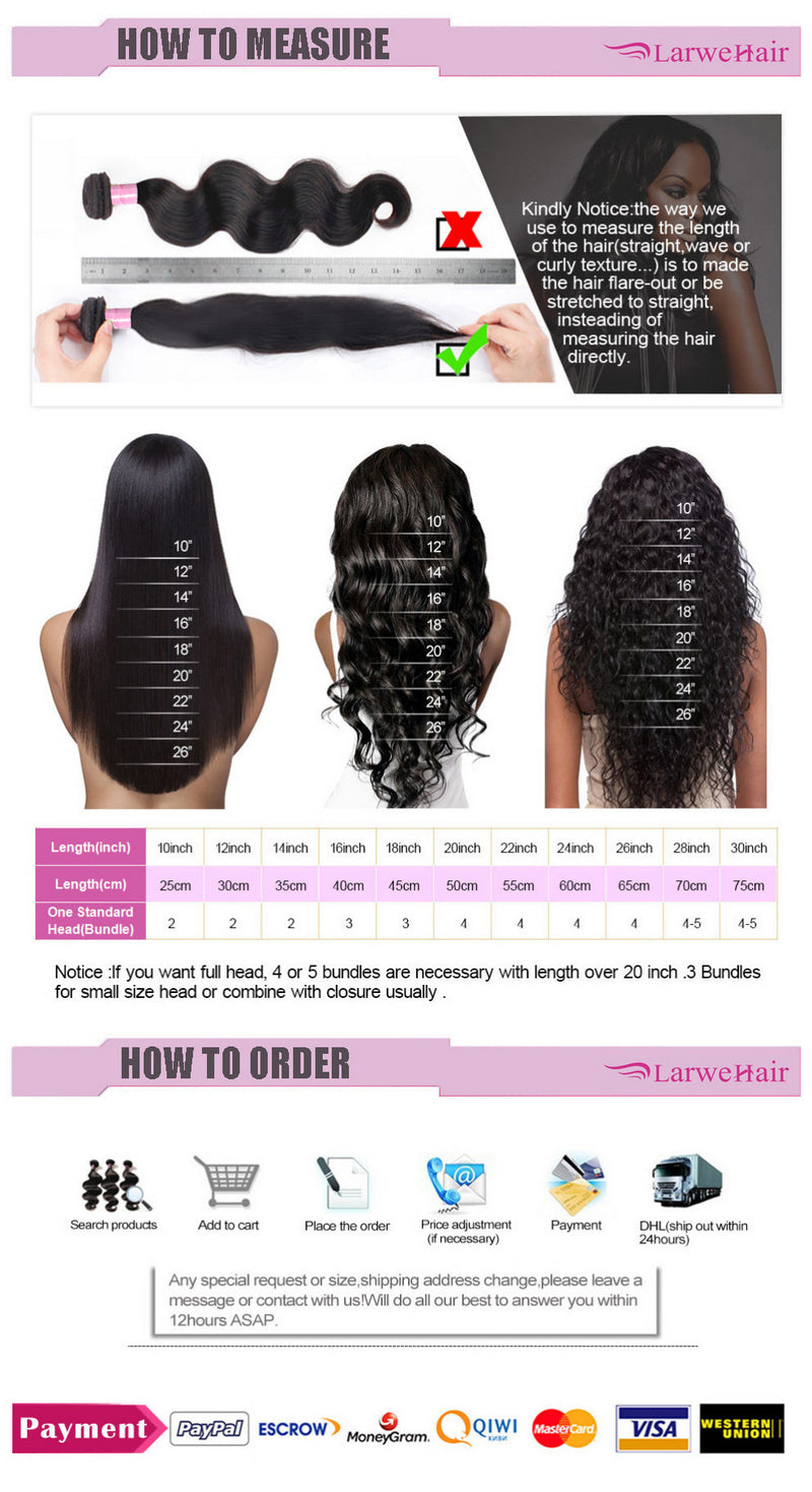 Human hair bundles with closure-3