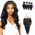 8A 4 Bundles Remy Hair Loose Wave Indian Hair With 4x4 Lace Closure Three Part Larwehair