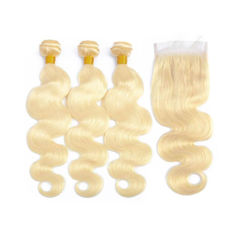 Human hair bundles with closure-4