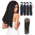 8A 4 Bundles Deep Wave Unprocessed Malaysian Hair Weave With 4x4 Closure Three Part Larwehair