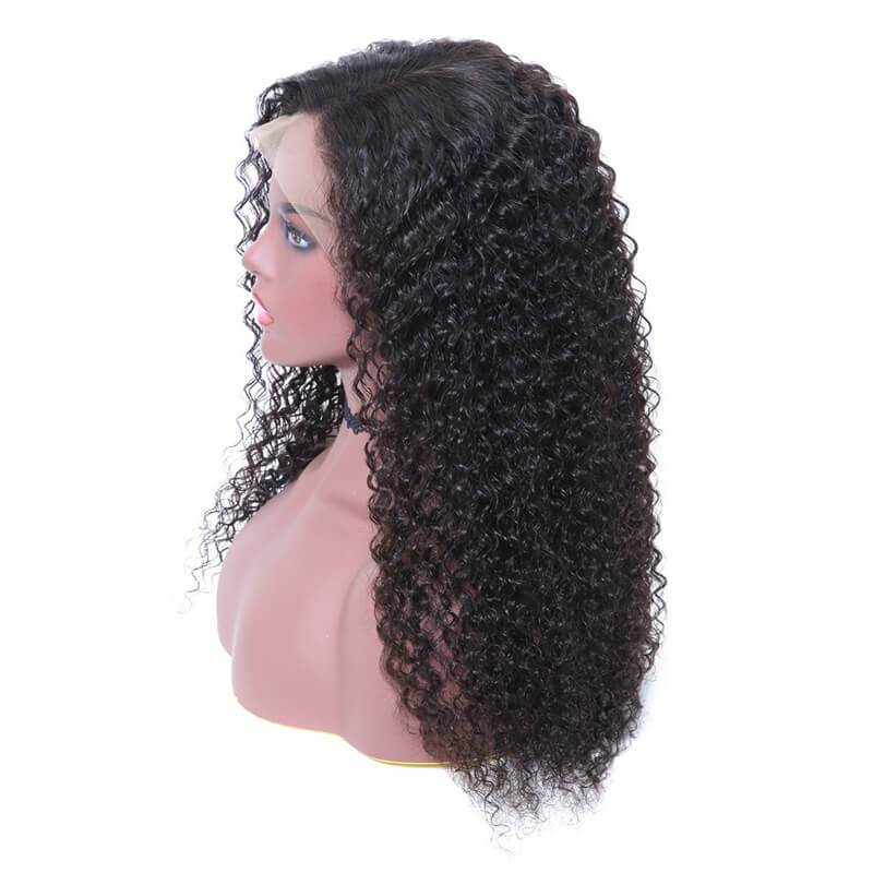 Curly lace front wigs-5