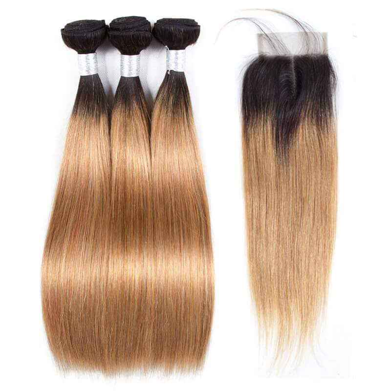 Ombre straight hair-4