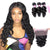 8A 3 Bundles Loose Wave  Brazilian Virgin Human Hair With 360 Lace Frontal Closure Larwehair