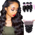 8A 3 Bundles Loose Wave  Peruvian Virgin Human Hair With 360 Lace Frontal Closure Larwehair