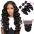 8A 3 Bundles Loose Wave  Indian Virgin Human Hair With 360 Lace Frontal Closure Larwehair